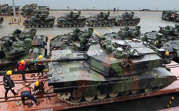 ВЛатвию прибыли танки Leopard изИспании для батальона НАТО