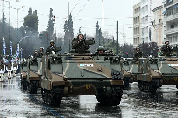 Греция отметила День независимости военным парадом. военный парад. греция, военная техника