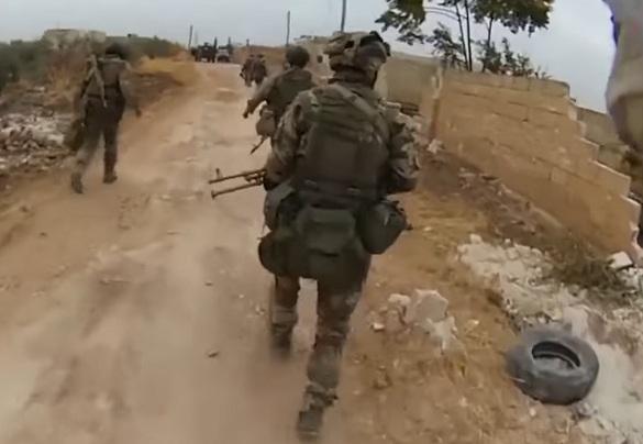 РоссийскоеТВ показало работу русского спецназа вПальмире