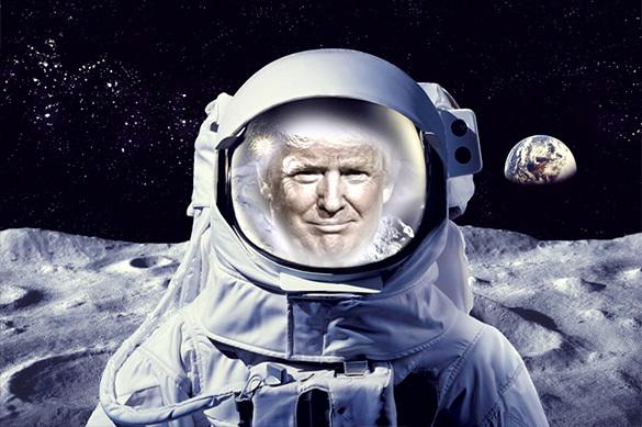 Трамп планирует первым добраться дополезных ископаемых Луны