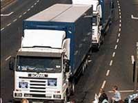 Переодетые милиционерами грабители угнали грузовик с техникой