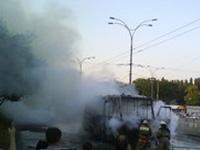На улице в Петербурге сгорела маршрутка