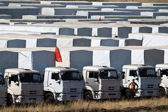 Гуманитарный конвой из России отправился в Донбасс. Гумконвой отправился в Донбасс