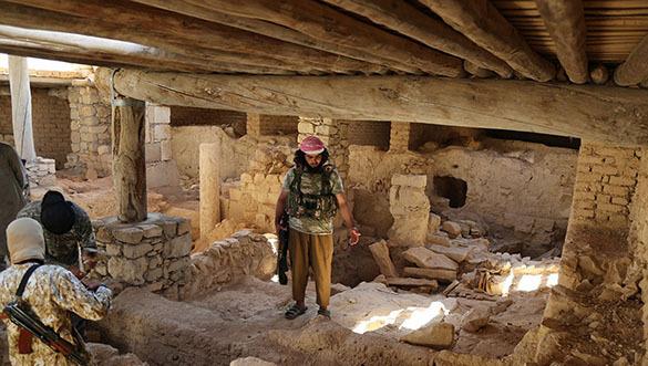 Разрушенный монастырь в Сирии
