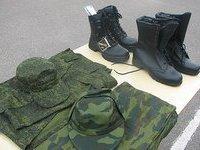 Российские военные примерят береты. beret