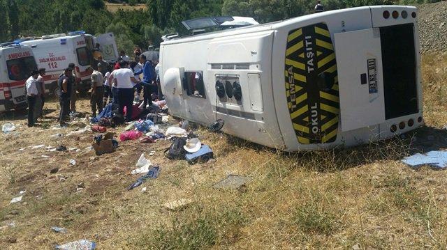 Туристический автобус в Турции попал в ДТП. Туристический автобус в Турции попал в ДТП