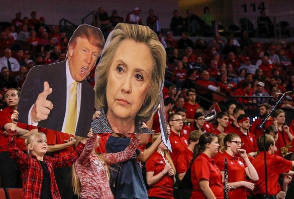 Клинтон - Трамп