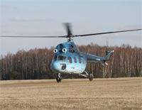 Частный вертолет упал на Украине, двое погибших