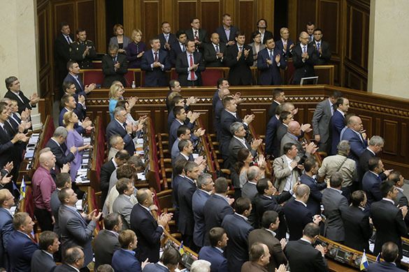 Заседание ВР Украины началась со скандала. парламент рада