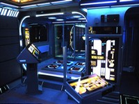 Британец превратил свою квартиру в космический корабль