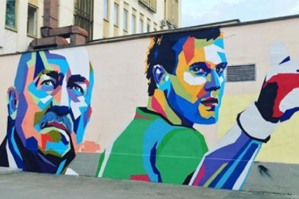 Граффити сизображением Черчесова, Дзюбы иАкинфеева появится вцентре столицы