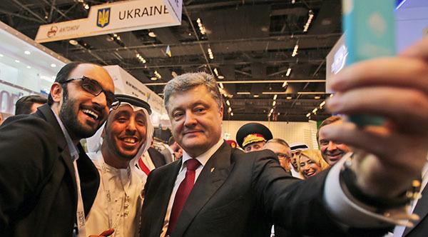 Разоблачение лжи Порошенко: никаких договоров в Абу-Дарби заключено не было. Селфи Порошенко