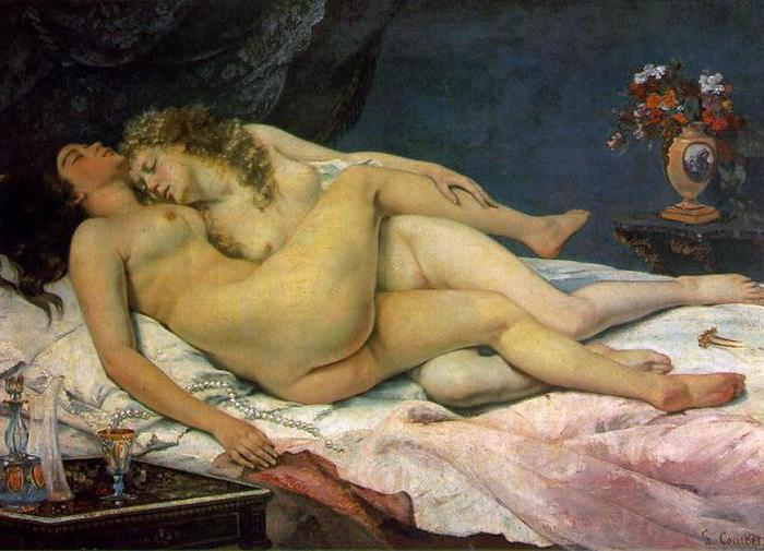 «Спящие» Густав Курбе