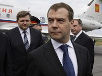 Медведев прибыл на саммит G8