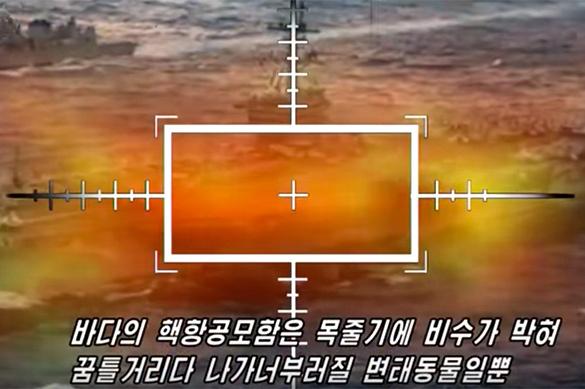 В КНДР уничтожили американский авианосец. ВИДЕО