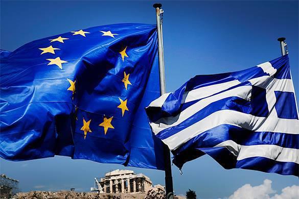 флаг ЕС и Греции
