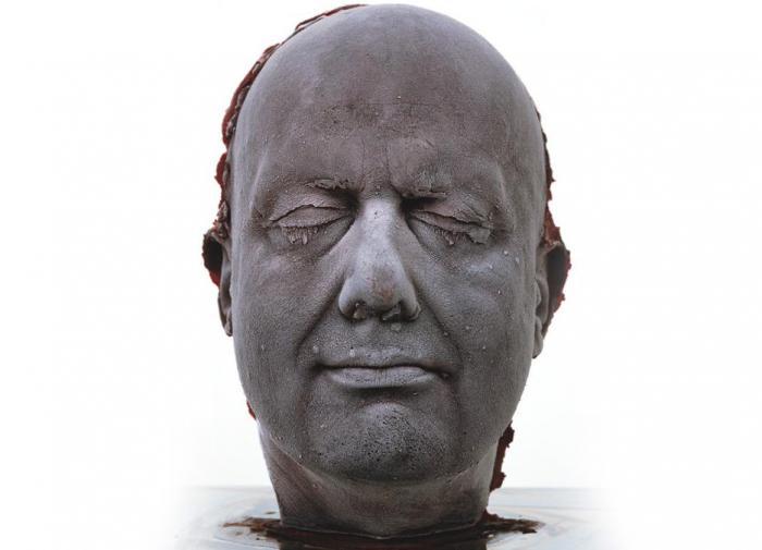 Марк Куинн автопортрет скульптура