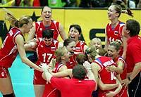 Российские волейболистки завоевали путевку в финальный этап