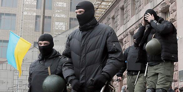Подавлять митингующих в Константиновку прибыл