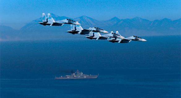 ВВС России провели масштабные учения в Баренцевом море. ввс россии, истребители