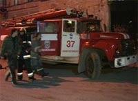 Здание банка горело в центре Саратова