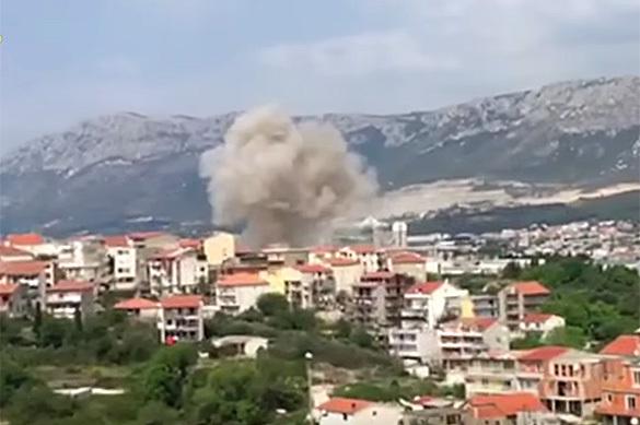 В Хорватии на элеваторе с зерном прогремел взрыв. ВИДЕО