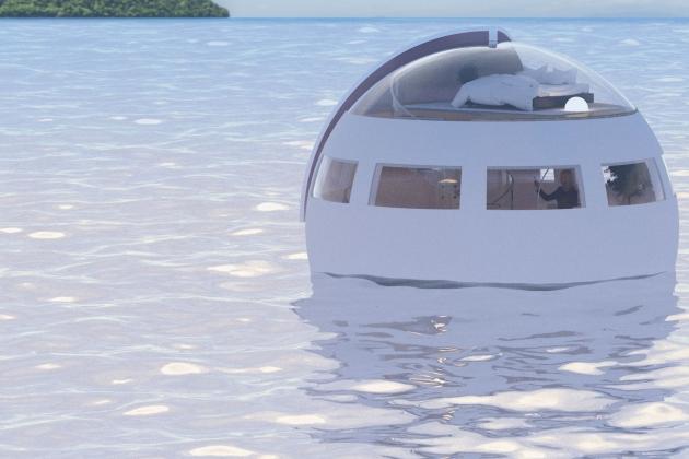 Отели-капсулы доставят туристов на необитаемые острова
