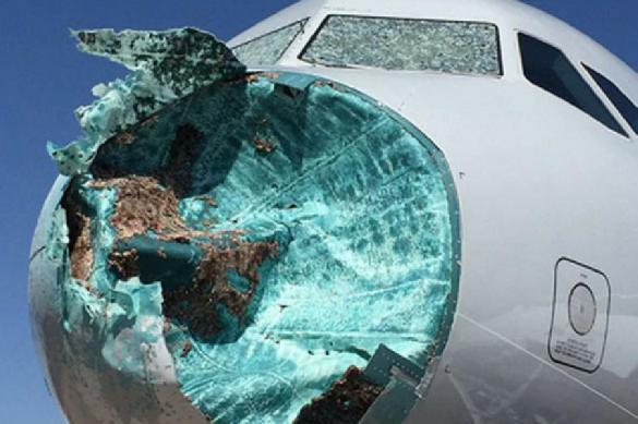 Пилоты  American Airlines посадили самолет с разбитым носом. 387762.jpeg