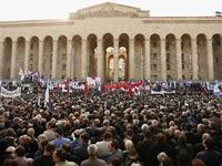 Оппозиция круглосуточно будет требовать отставки Саакашвили