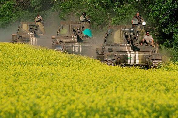 танки на поле