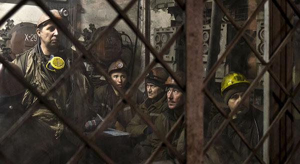 В Донецкой области горняки бастуют из-за долгов по зарплате. Шахтеры