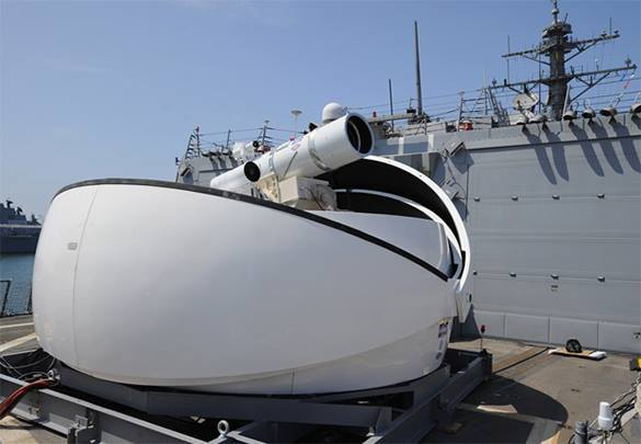 Lockheed Martin учится использовать лазерное оружие. Боевой лазер на судне США