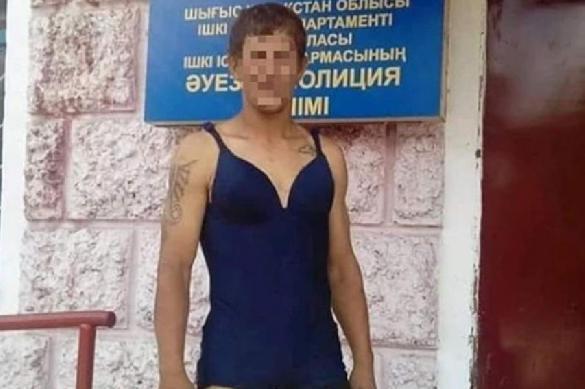 """Пьяный казахстанец устроил """"дефиле"""" в женском купальнике. 389772.jpeg"""