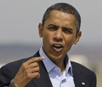 Барак Обама поседел из-за кризиса