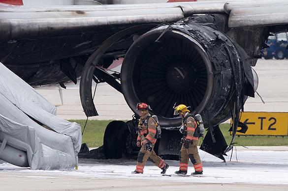 Как в аэропорту Форт-Лодердейл горел Boeing