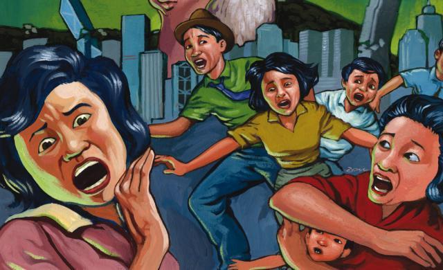10 способов устоять перед массовой паникой. Рисунок человек в панике