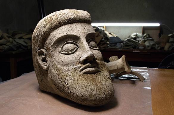 Уникальную терракотовую голову нашли в районе Крымского моста