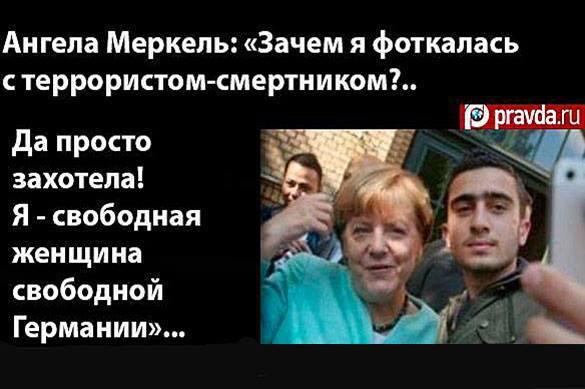 Соцсети обсуждают фото Меркель рядом с человеком, похожим на бел