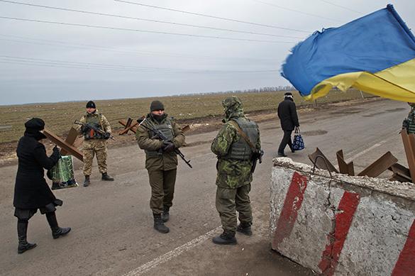 Украинские силовики готовятся возвести блокпост под Донецком