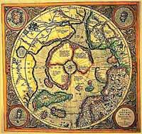 Гиперборея на карте Меркатора