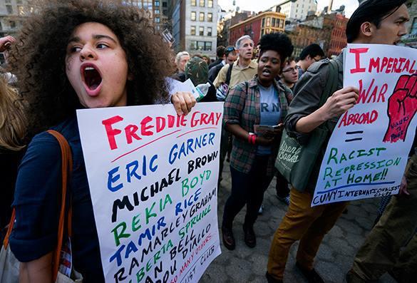 Нью-Йорк охватили протесты в поддержку Балтимора. 318810.jpeg