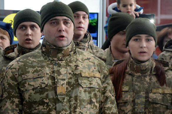Бойцы ВСУ отказались славить государство Украину