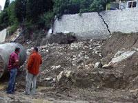 Оползень разрушил пять домов в Чечне