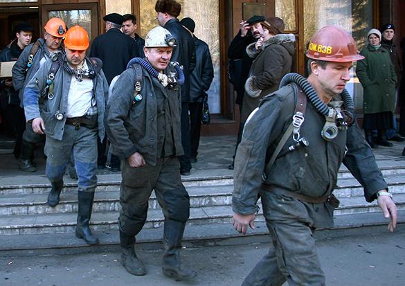 Киевские власти окружили себя охраной - в столице съезд шахтеров. шахтеры