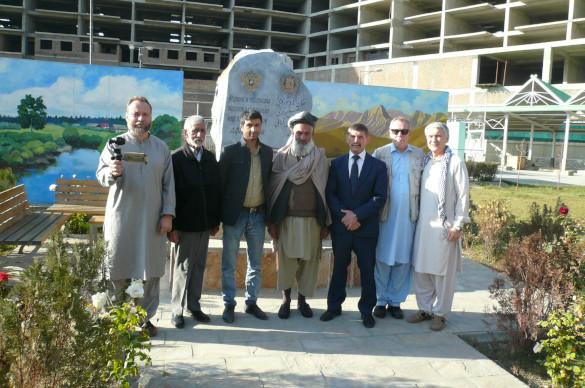 В Афганистане найдены останки советского воина. мемориал