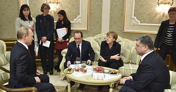"""Лидеры стран """"нормандской четверки"""" обсудили по телефону ситуацию на Украине. Нормандская четверка"""