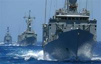 В Севастополе пришвартовались два корабля ВМС Турции