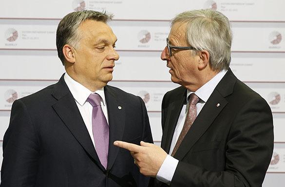 Евросоюз пригрозил Венгрии исключением в случае введения смертной казни. Виктор Орбан и Жан-Клод Юнкер