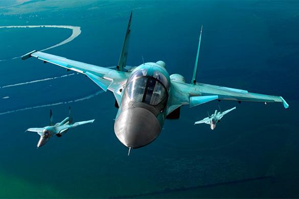 Российские Су-34 вышли в стратосферу на сверхзвуке