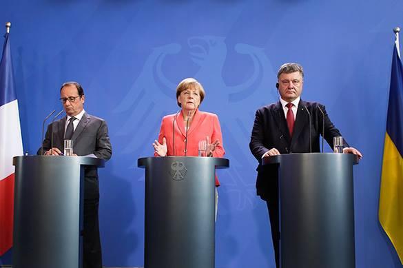 Встреча Олланда, Порошенко и Меркель